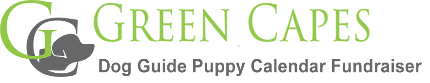 Green Capes Dog Guide Puppy Calendar Fundraiser